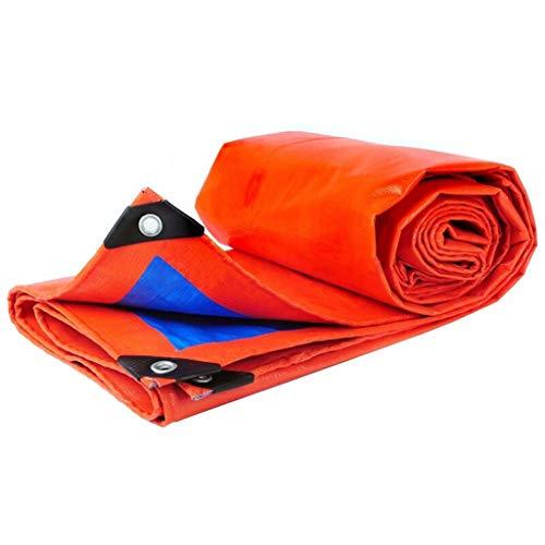 DS Bâche Tissu imperméable à l'eau, épaissie extérieure étanche à la Pluie Bâche Camion Couverture Solaire Tissu Bleu Orange && (Size : 4x6m)