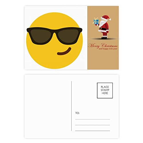 Sonnenbrille Cool Yellow Cute Online Chat Santa Claus Postkarten-Set, 20 Stück