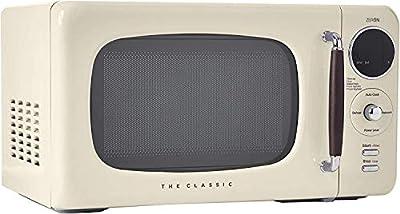 WINIA WOR07R3ZEC Retro Countertop Microwave Oven, 0.7 Cu. Ft, Cream