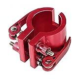 amalibay Abrazadera Plegable Mejorada para Zero 8X 10X 11X Serie SPEEDUAL, Dualtron DT3 Thunder, escúter eléctrico, Bloqueo Robusto de vástago Vertical (Rojo)