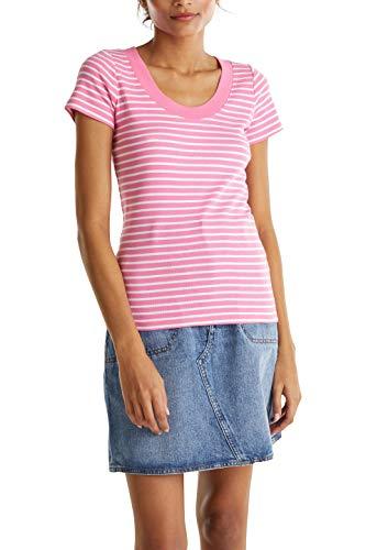 edc by Esprit Damen 040CC1K318 T-Shirt, 673/PINK 4, M