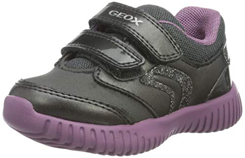 Geox Baby-Mädchen B Waviness Girl A Sneaker, (Dark Grey), 20 EU