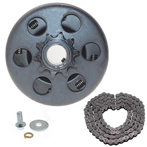 Centrifugal clutch Go kart clutch Predato 212 clutch 3/4' Bore 10 tooth with #40/41/420 Chain Compatible whit Predator 212cc 196CC & GX160 GC160 Up to 6.5 hp Engine