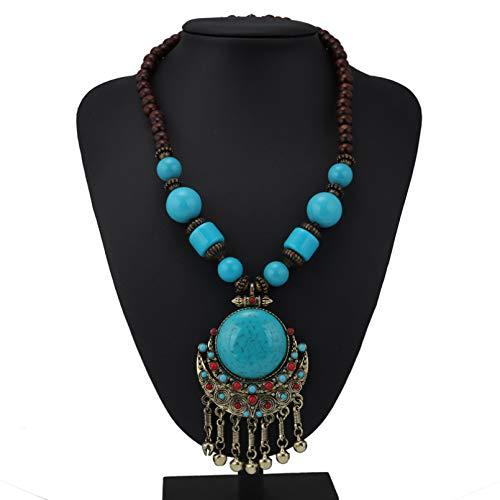 N/A Collar Colgante Abalorios Borla Collares y Colgantes para Mujer Accesorios Joyería Regalo de cumpleaños de Navidad