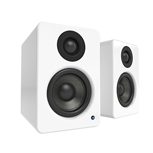 Kanto 2 Channel Powered PC Gaming Desktop Speakers – 3″ Composite Drivers 3/4″ Silk Dome Tweeter – Class D Amplifier – 100 Watts – Built-in USB DAC – Subwoofer Output – YU2GW (Gloss White)