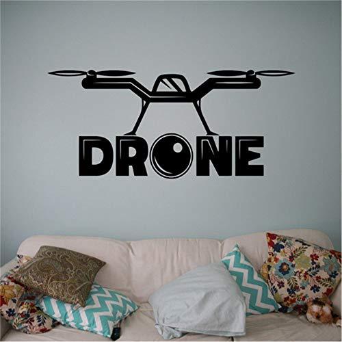 Hllhpc Quadrocopter met wandcamera, vinyl, Air Drone muurstickers, vliegtuig, Home Wall Art, decoratie, ideeën voor binnen, kinderen, roomdesign, 40 x 90 cm
