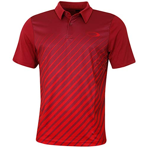 Oakley Herren Ellipse Gradient Polo Golf-T-Shirt, Himbeere, Groß