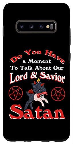 Galaxy S10+ Satan Pentagram Funny Satanic Cute Baphomet Goat Occult Gift Case