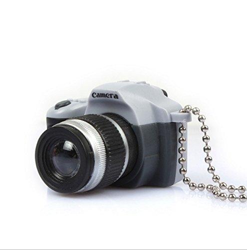 Rcdxing Llavero con colgante de mini cámara LED creativa