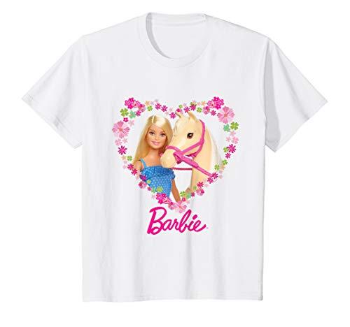 Kinder Barbie T-Shirt, Mädchen, Pferd, viele Größen+Farben