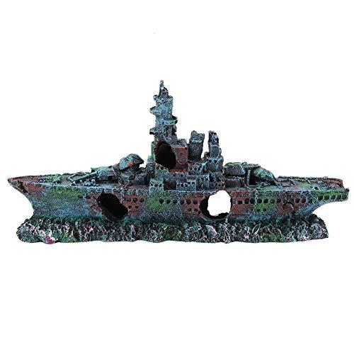 Marine Aquarium Aquarium Ornament Kunstharz Haus verstecken Schiff Boot Höhle Dekor
