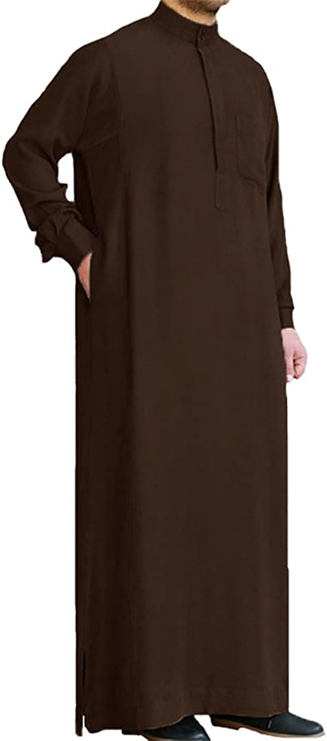 Men Muslim Islamic Kaftan Arab Vintage Long Sleeve Men Robe Loose Dubai Kaftan Men Clothing