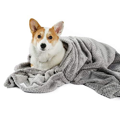 PAWZ Road Hundedecke Flauschig Weiche Katzendecke Waschbar Hundeteppich Grau, eine Bequemere Decke für Hunde und Katzen