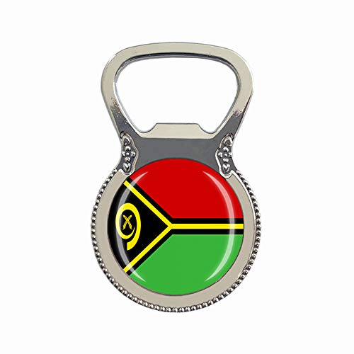 Vanuatu Flagge Bierflaschenöffner Kühlschrank Magnet Metall Glas Kristall Reise Souvenir Geschenk Heimdekoration