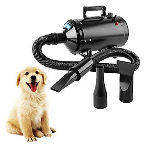 Wilktop Secador de Pelo para Perros, Perros Cuidado Secador Ajustable Velocidad del...