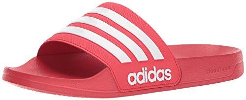 adidas Adilette Shower Stripes, Chanclas Hombre, Scarlet 05, 45 EU