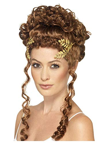 shoperama Corona de laurel dorada, joya para la cabeza, romana, griega, diosa griega, diosa de Dios, Julius, Csar, Campestre, Antigua