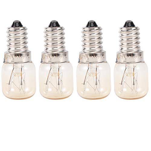 Uonlytech 4Pcs 15W Mikrowelle Glühbirnen E14 Gerätelampen Ersatzlampen für Ge Mikrowelle Mikrowelle