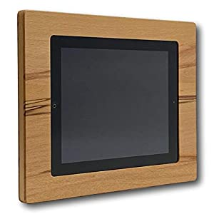 NobleFrames Tablet Wall Mount fürs Smart Home, kompatibel mit Apple iPad 2, 3 und 4 aus Kernbuche