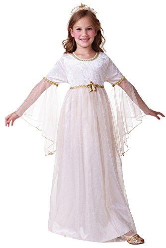 Bristol Novelty C446- Disfraz de ángel de manga larga, para niños y niñas de 3 a 5 años. Talla: S, 110-122 cm de largo.
