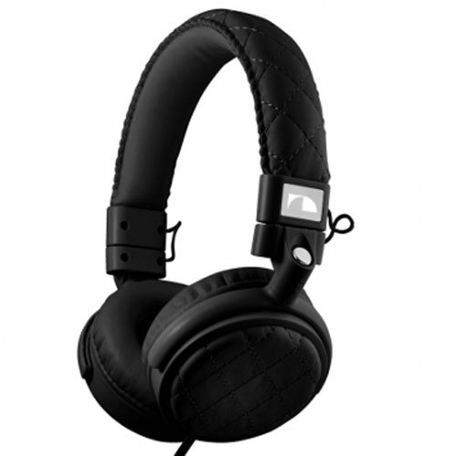 Nakamichi NK600 Series On-The Ear Headphones with Mic - Retail Packaging - Black