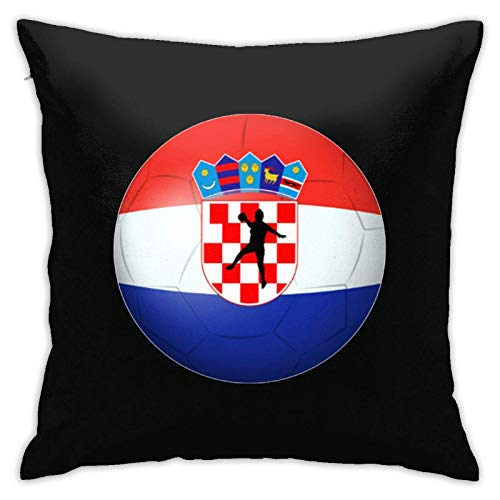 MZZhuBao Handball - Croatia Flag Throw Pillow Covers Cushion Cover Cases Pillowcases Sofa Home Decor 18