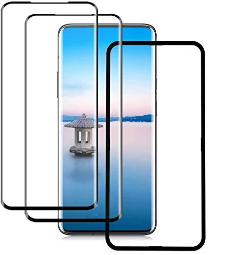 HZZK [2 Pack OnePlus 7 Pro Bildschirmschutzfolie, 9H Festigkeit OnePlus 7 Pro Gehärtetes Glas, Blasenfreies, Kratzfestes, Hochdurchsichtiges Panzerglas für OnePlus 7 Pro