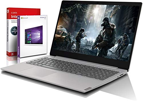 Lenovo (15,6 Zoll HD) Notebook (AMD [Ryzen-Core] 3050U 2x3.2 GHz, 8GB DDR4, 512 GB SSD, Radeon RX, HDMI, Webcam, Bluetooth, USB 3.0, WLAN, Windows 10 Prof. 64 Bit, MS Office 2010 Starter) #6584