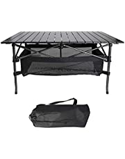 HOMOH Portable Camping Table for Beach Park Large Ultralight Foldable Table with Aluminum Table Top and Carry Bag Perfect for Outdoor Picnic Camp Festival & BBQ