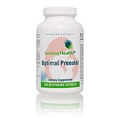 Optimal Prenatal - Vitamin Complex för gravida kvinnor - Multivitamin A C B5 B6 B12 E D3 FOLSÄURE Magnesium Krom Molibden Inositol Q10 - För Graviditet - 240 Vegan kapslar Utan Gluten SÖKER HÄLSA