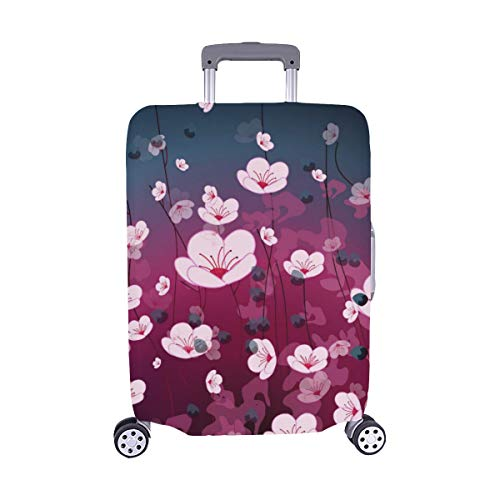 Gold Glitter Deer Pattern On Blue Pattern Spandex Trolley Case Travel Luggage Protector Suitcase Cover 28.5 X 20.5 Inch