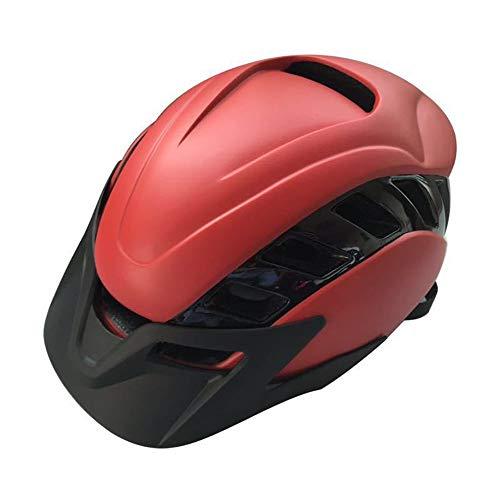 Kaper Go Berg Helm Fahrrad Reithelm Rennrad Ausrüstung Integrierte Moulding Männer und Frauen (Color : Red)