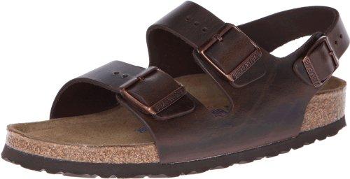 Birkenstock Milano - Leather Soft Footbed (Unisex) Brown Amalfi Leather 44 (US Men's 11-11.5, US Women's 13-13.5) Regular