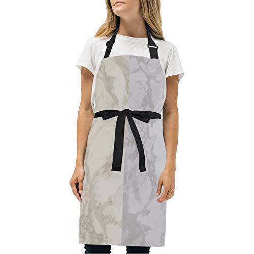 LDIYEU Nube De Pizarra Delantal de Cocina con 2 Bolsillos Cuello Ajustable para Cocinar Mujeres Hornear Camarero Carniceros Cocineros Hombres