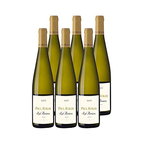 Alsace Riesling Les Pierriers Weißwein 2017 - Domaine Paul Kubler - g.U. - Elsass Frankreich - Rebsorte Riesling - 6x75cl