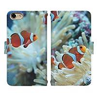 iPhone 8 ベルト有り 手帳型 スマホケース スマホカバー di423(G) クマノミ カクレクマノミ 海水魚 アイフォン8 アイフォンエイト スマートフォン スマートホン 携帯 ケース アイホン8 アイホンエイト 手帳 ダイアリー フリップ スマフォ カバー