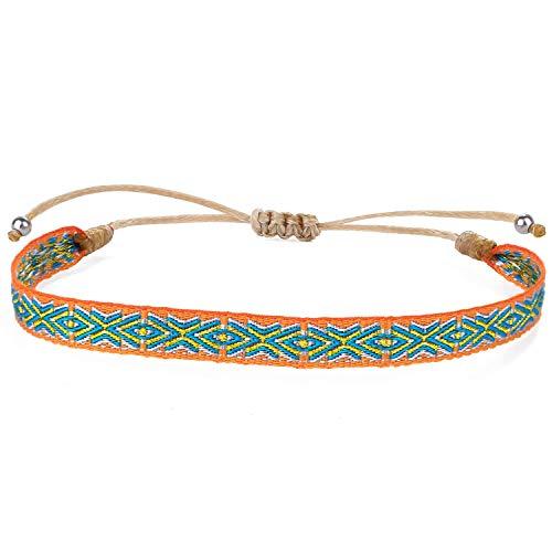 KELITCH Bracelets D'amitié Tressés Multi Couleures Bracelets À Brins D'enveloppant De Corde Bracelets À Breloques D'ethniques