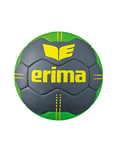 Erima Unisex– Erwachsene Pure Grip No. 2 Handball, hellgrau/Green, 2