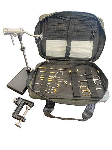 Zephr Travel Fly Tying Kit w/Travel Bag for Fly Tying
