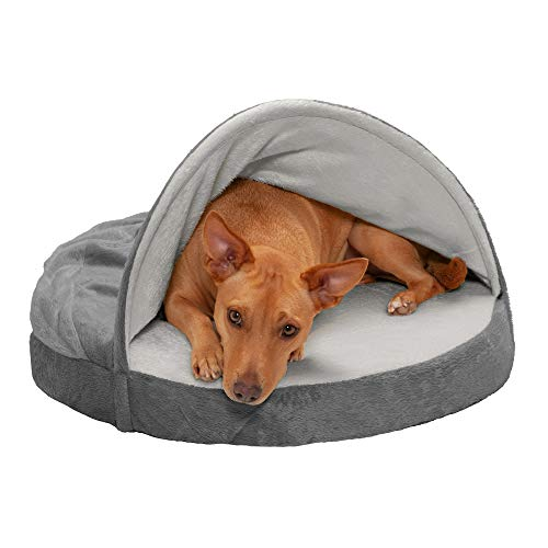 Furhaven Pet Dog Bed - Memory Foam Round...