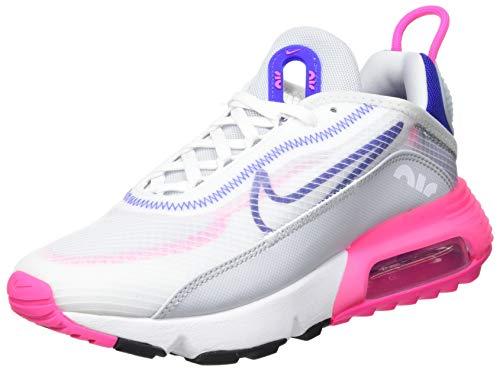 Nike Air Max 2090, Chaussure de Course Femme, White Concord Pink Blast Pure Platinum, 38 EU