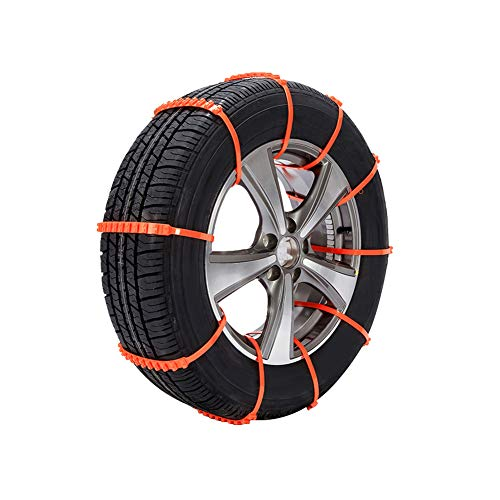 Tire Traction Chain Device for Snow, Mud and Sand Emergency Snap Buckle Non-Slip Devices for Passenger Cars Trucks SUV 10pcs