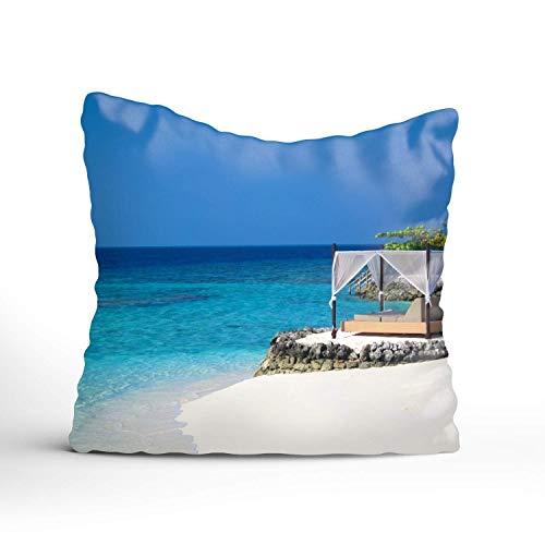 N\A Beach Sports Relax Mood Throw Pillow Covers Decoración del hogar Diseño Funda de cojín para sofá Dormitorio Coche
