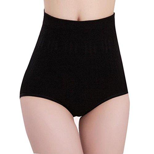 TONSEE Femmes Haute Taille Ventre contrôle Body Shaper Briefs Slimming Sexy Pantalons (Noir)