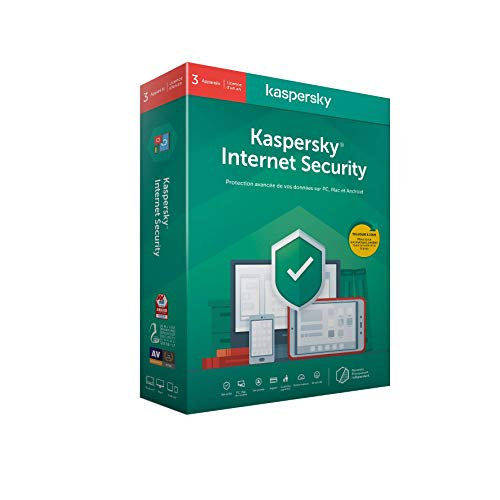 Kaspersky Internet Security 2020 (3 Postes / 1 An)|Internet Security|3 appareils|1 An|PC/MAC/Android|Telechargement