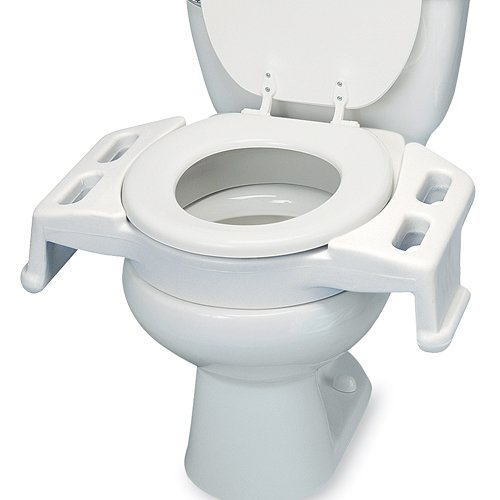 moen raised toilet seats SP Ableware Wheelchair 3-Inch Elevated Transfer Seat for Standard Round Toilets - White (725600051)