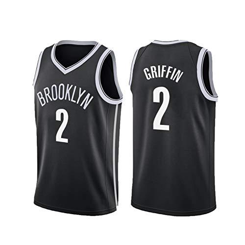 USSU Camiseta de baloncesto 2021 Něts 2 # Camisetas para hombre sin mangas chaleco deportivo Tops Uniformes Deportes Fan Jerseys,Hygroscopic,Verano Deportes L