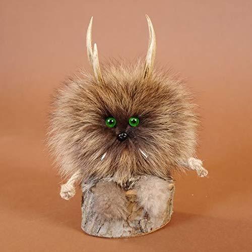 GTK - Gewei & trofee kroomhout Wolpertinger Wolpi Mini Preparaat Taxidermy met groene ogen