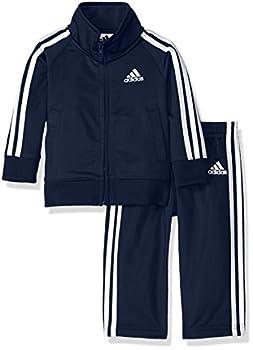 adidas Baby Boys Li l Tricot Jacket & Pant Clothing Set Collegiate Navy 12M