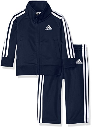 adidas Baby Boys Li'l Tricot Jacket & Pant Clothing Set, Collegiate Navy, 12M